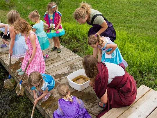 Kids participate in a summer camp at Woodland Dunes