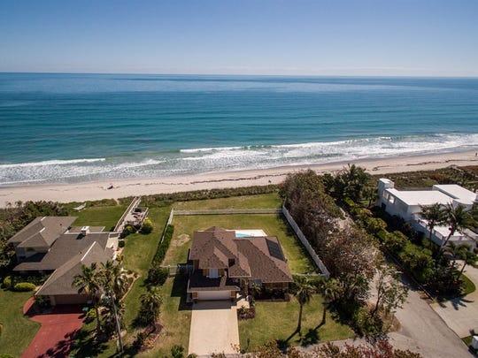 This oceanfront home (center) at 648 Ocean St., Satellite