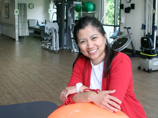 Physical therapist Arlene Buenvenida came to the U.S.