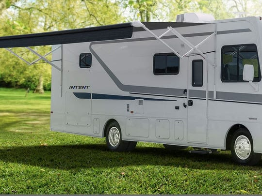 The exterior of Winnebago's Intent motorhome is pictured