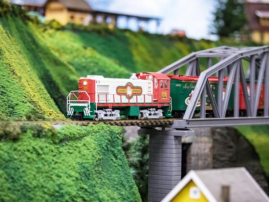 The model train will be on display.
