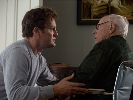 """Ted Kennedy (Jason Clarke) in a tense moment with his father, Joe (Bruce Dern) in a scene from """"Chappaquiddick.""""The movie does not seek to veer to the political left or right, and it does not delve into the salacious aspects of the events of July 18, 1969. Rather, producer Mark Ciardi calls it a peek behind the curtain after Mary Jo Kopechne's death in Poucha Pond."""