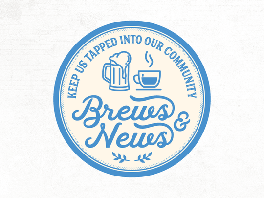 "The ""Brews and News"" series will kick off Aug. 28 at"