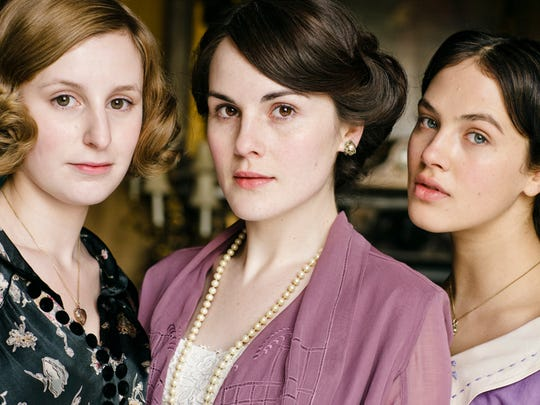 From left, Laura Carmichael as Lady Edith Crawley,