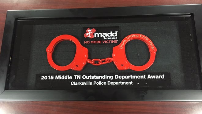 CPD was presented the MADD Middle TN Outstanding Department Award.