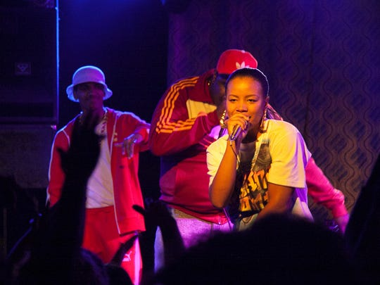 Chante Adams as Roxanne Shante in a scene from Netflix's