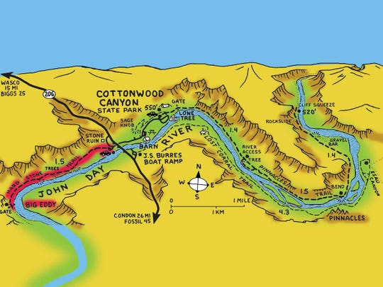 Cottonwood Canyon is the newest state park between The Dalles and Fossil in north Central Oregon east of Portland.