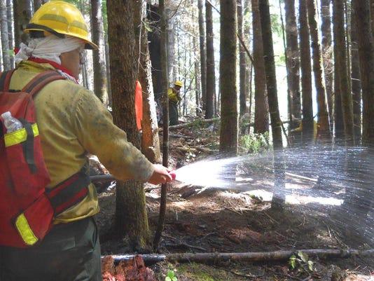 Mop-up work-Niagara Fire DWells