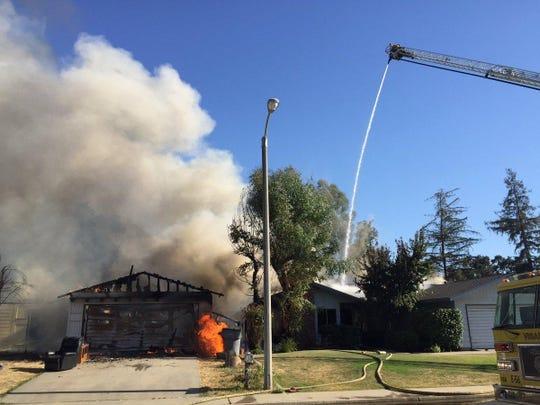 Firefighters are battling multiple residential fires near Evergreen Court.