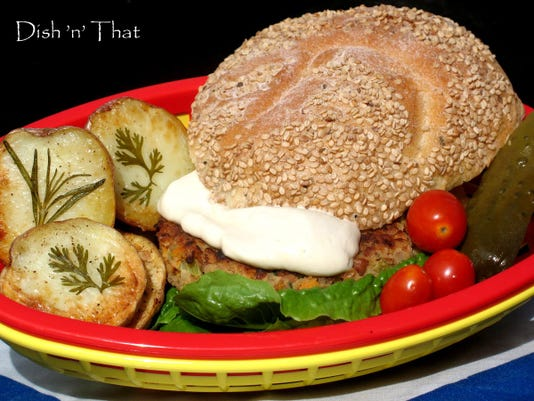 Bulgur-bean burgers are a satisfying alternative for summer grilling.