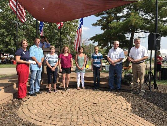 Waters Family Receiving Award