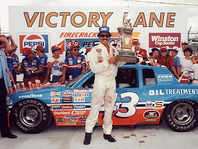 Richard Petty, 200 career wins.