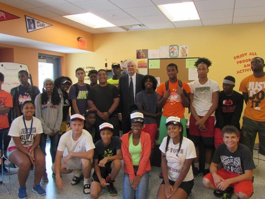 Jeff Smith, Indian River County Clerk of Court, talked with the Boys & Girls Clubs teens about careers in the government sector and about staying on track in school.