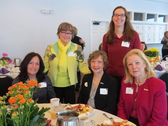 Pictured are attendees of 2016's Women's Leadership Breakfast, from left: Anne Pierce, Rev. Linda Heimermann, Vicki Woschnick, Terry Drake and Melanie Fox.
