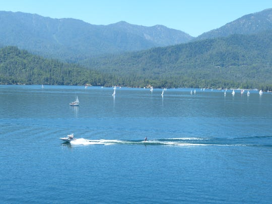 Sailors in about 45 boats were out sailing Saturday at Whiskeytown Lake for the 53rd annual Memorial Regatta.