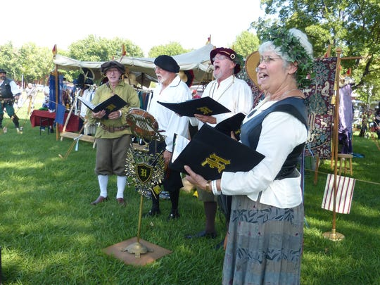 Singers perform Saturday at the Shasta Renaissance and Fantasy Faire at the Shasta District Fair grounds in Anderson.