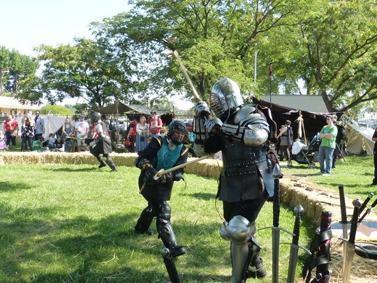 """Armed """"knights"""" battle at the Shasta Renaissance and"""