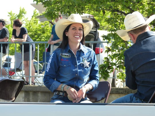Nellie Miller, world champion barrel racer, was this year's Grand Marshal at Saturday's Redding Rodeo Parade.