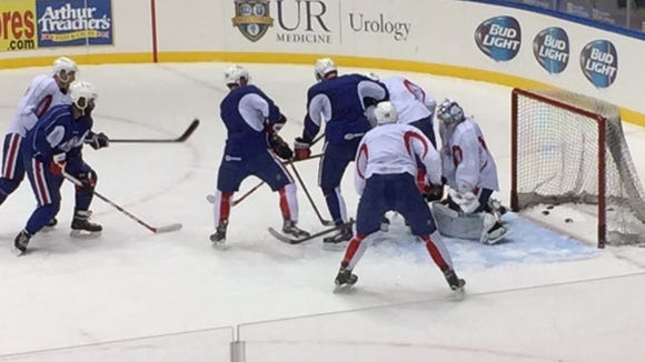 The Amerks spent time in practice concentrating on