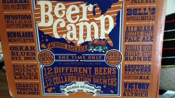 The Sierra Nevada Beer Camp sampler