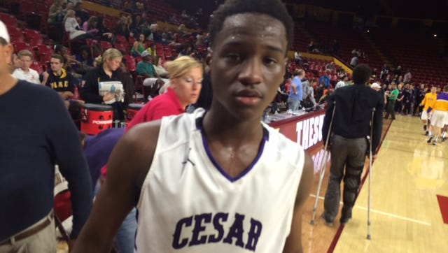Cesar Chavez guard Donald Carter led his team to victory over St. Mary's at the MLK Basketball Classic.