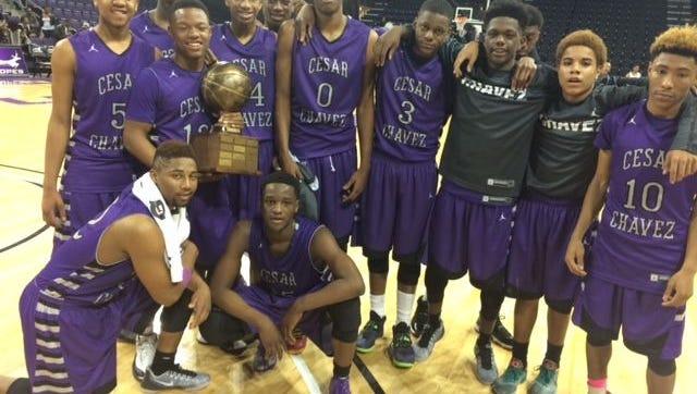 The Cesar Chavez high school boys basketball team won the Battle of Laveen trophy Friday night.