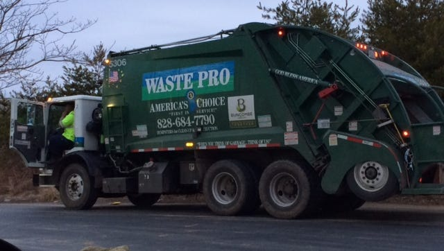 Waste Pro has fallen behind on trash pickups because of recent snow and ice storms.