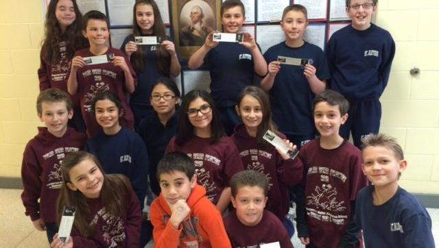 Photo is of some of the fifth graders who participated in the competition.