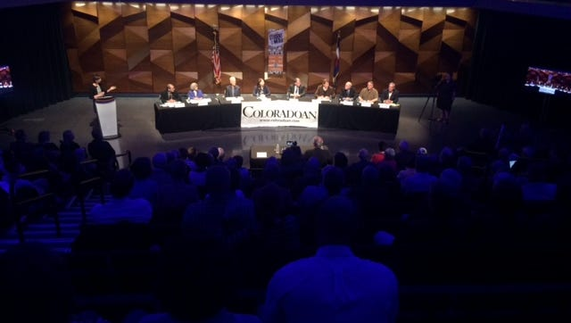 The Coloradoan hosts the  city council and mayoral debate at Colorado State University on Wednesday, March 11, 2015.
