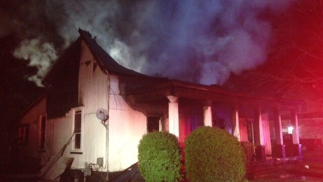 A fire Saturday night destroyed  a triplex on Burton Street.