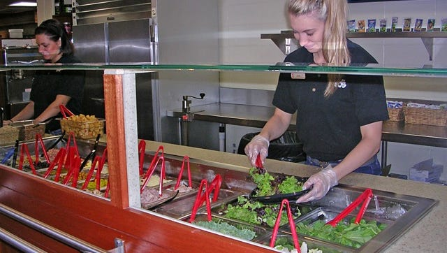 Red Lerille's Health and Racquet Club recently opened a build-your-own salad bar.