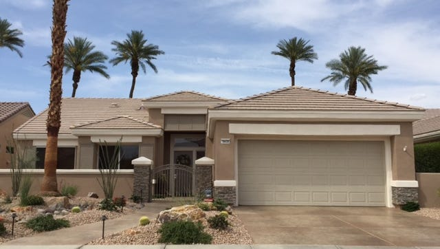 Palm Desert home of former Beaumont City Manager Alan Kapanicas, which was raided last year by the FBI. Felony charges have been filed against him and six other former officials, including the finance director and police chief.