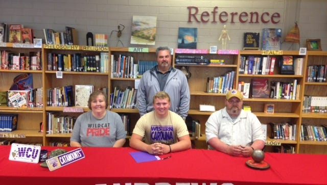 Andrews senior Jacob Whitaker has signed with the Western Carolina University track and field program.