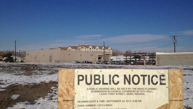 This property at Fifth Street and Evans Avenue in downtown Reno is where an Apple facility is expected to be built.