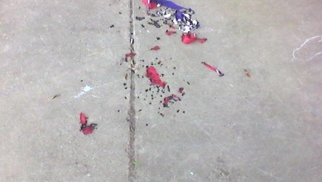 The remains of Heard's state flag.