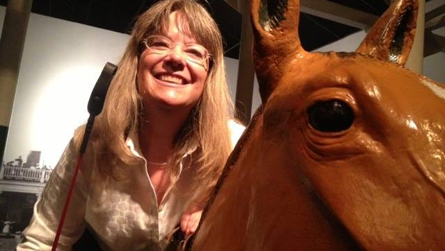 Jennie Rees at the Kentucky Derby Museum.