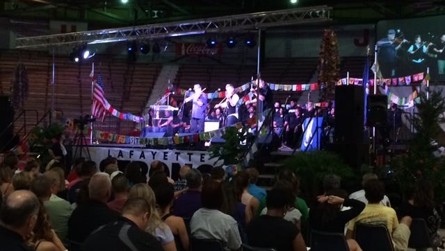Hundreds gather at Blackham Coliseum on Thursday for a community healing service.