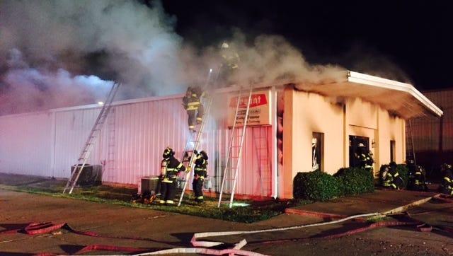 Bossier City firefighters spent 50 minutes battling the fire at Bobby Brannon's Heating and Air Conditioning.