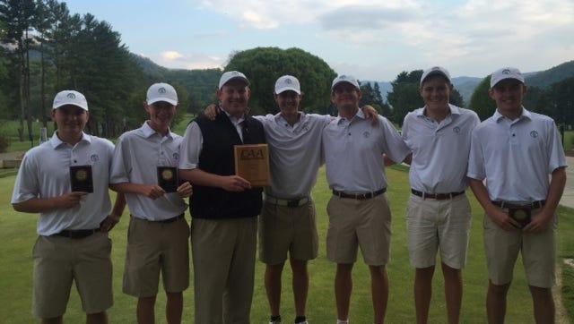 The Christ School golf team won the Carolinas Athletic Association championship last spring.