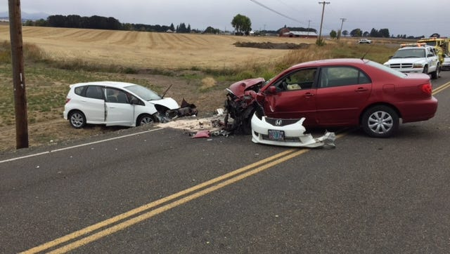 Four people were injured following a head-on collision in Polk County on Sunday.