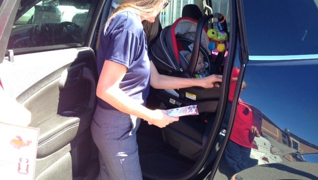 During National Child Passenger Safety Week MCSO helps parents with booster seats.