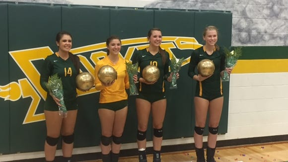 Reynolds seniors, from left to right, Kendra Rice,