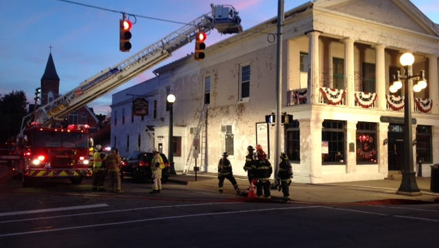 Firefighters were called to the Stagecoach Inn for an attic electrical fire on Thursday evening.