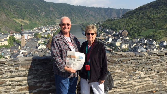 In Cochem, Germany, with the Johnsons.