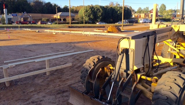 A new Bojangle's and an Arby's are under construction on Smoky Park Highway near I-40.