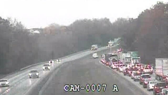 I-71 South at the Oldham County Line