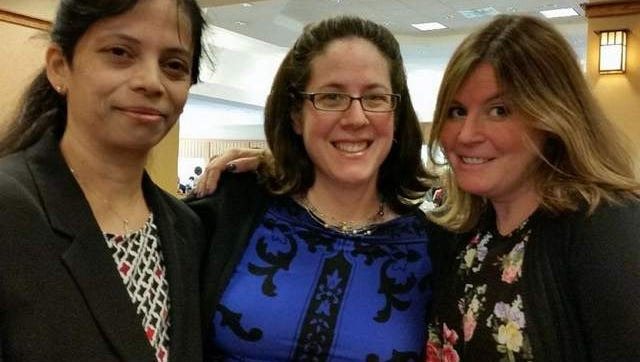 Drs. Priya Angi, Jessica Israel and Shira Goldberg, Monmouth Medical Center Geriatric Team, were Leaders of Distinction honorees at SCAN's awards luncheon at Seabrook Village on Oct. 20th.