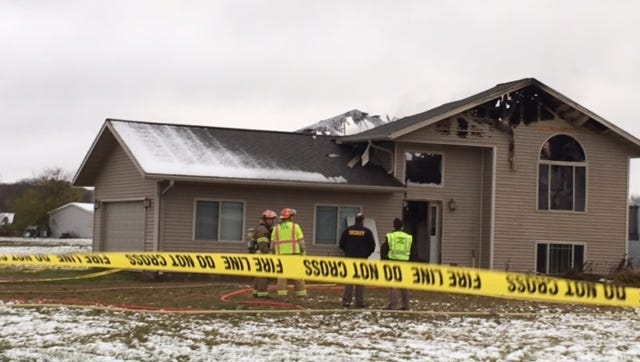 A fire on Tuesday destroyed a vacant home on Lokemoen Road in the town of Merrill.