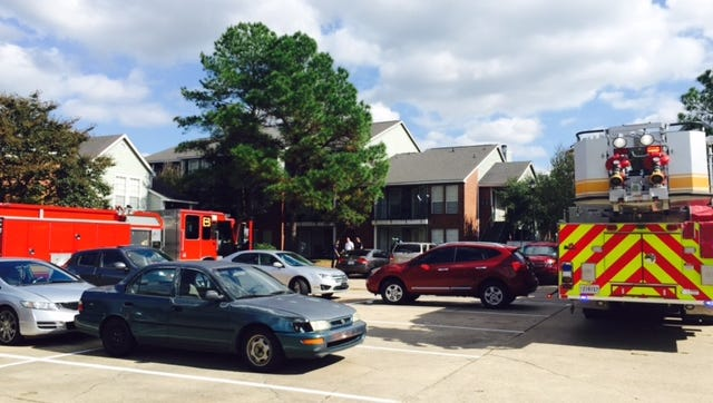 A Tallow Meadow Apartment's unit caught fire in Bossier Wednesday.