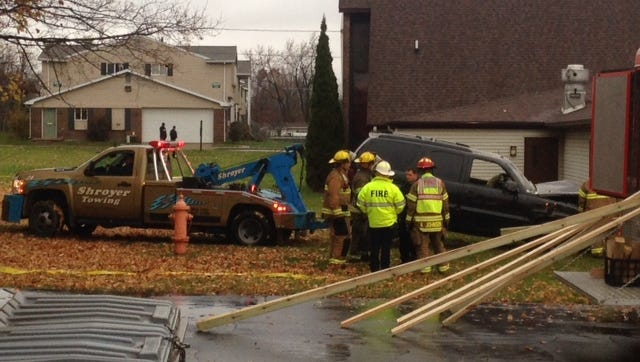 A 27-year-old Lansing man lost control of his vehicle and crashed into New Hope Church in south Lansing this afternoon, police said.